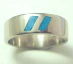 two blue stripes wedding ring