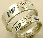 double bass clef and muscial notation rings