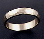 domed and hammered wedding band