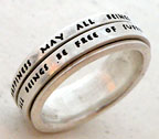spinner ring with words